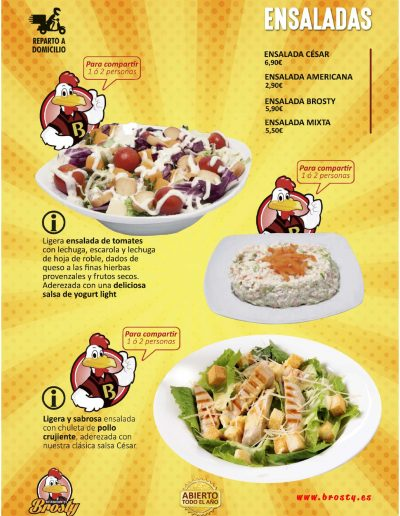 Carta Brosty Ensaladas